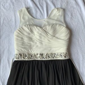 New without tags, black/cream formal girls dress